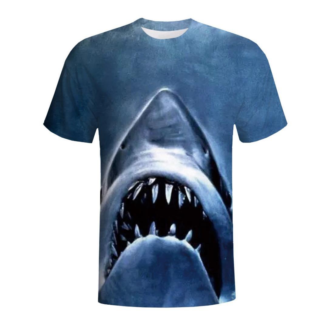 ASHOP - T Shirt Uomo, Maglietta Uomo Maniche Corte Classico Tops Casual Camicia Comodo Pullover, Maglietta della Manica Corta della Camicia di Stampa degli Uomini 3D ASHOP - UT025