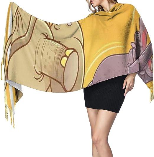 Bufanda larga de invierno suave y cálida para mujer