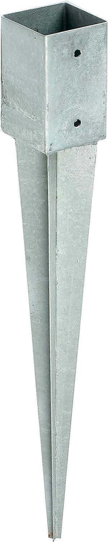 Soporte poste madera cuadrado, anclaje estaca cubo, 90 x 90 mm: Amazon.es: Bricolaje y herramientas