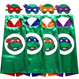 teenage mutant ninja turtles mask - Starkma Superhero TMNT Cartoon Costume 4 Satin Cape With Felt Mask
