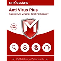 Max Secure Software Anti Virus Plus Version 6 - 3 PCs, 3 Years (Email Delivery in 2 Hours - No CD)