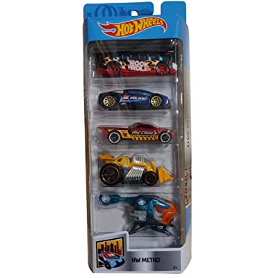 Hot Wheels 2020 HW Metro 5-Pack High, Zotic, Bedlam, Speed Dozer, Sky Fi: Toys & Games