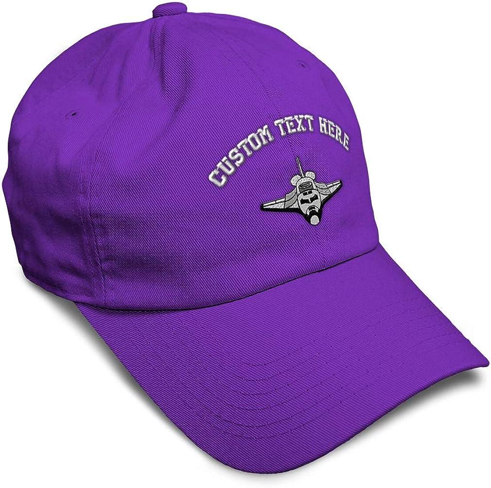 Custom Soft Baseball Cap Space Shuttle Embroidery Dad Hats for Men /& Women