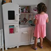 Leomark Grande Vintag Cocina Madera Infantil Cocina De Juguete ...