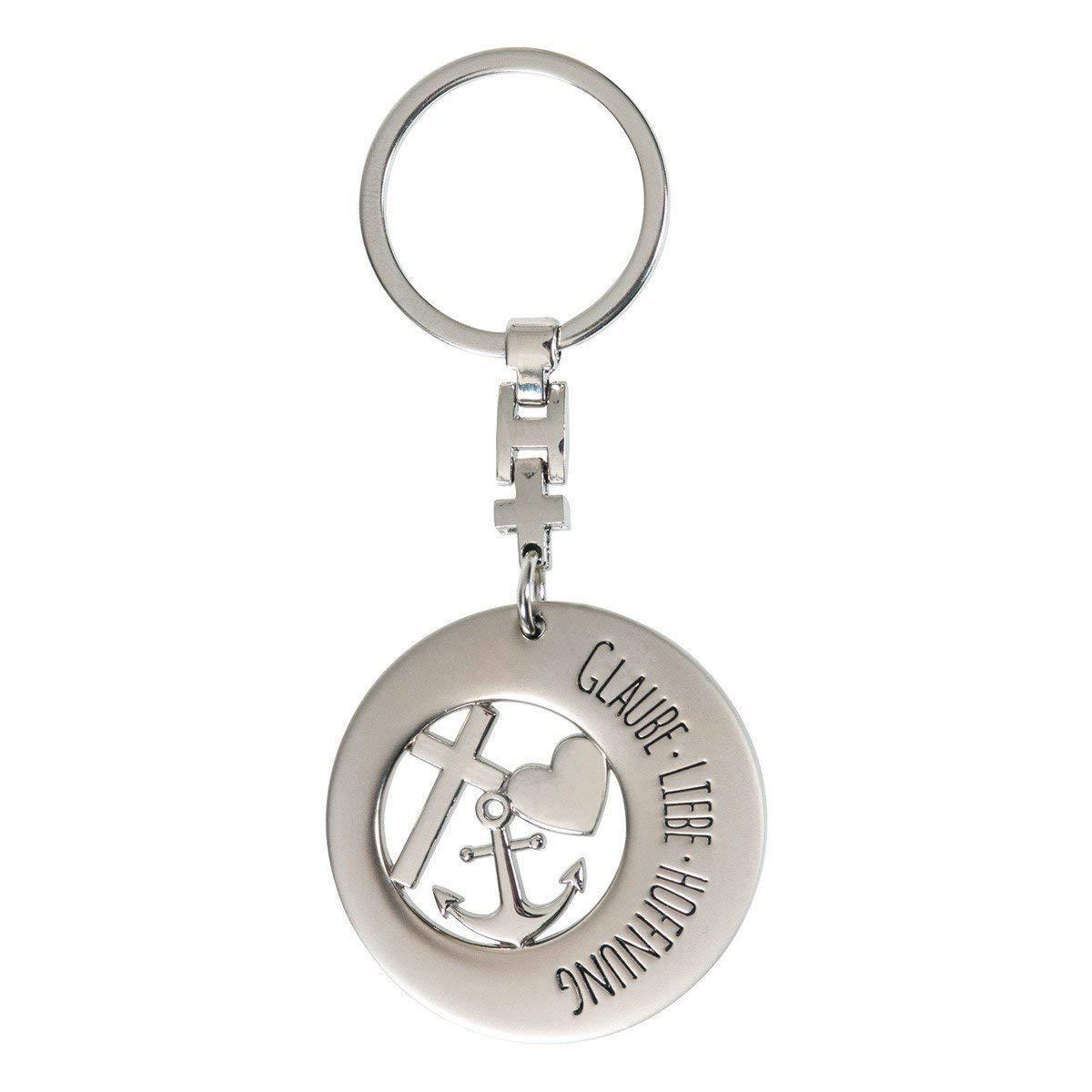 Liebe Gilde Metall Schlüsselanhänger Symbol Glaube Hoffnung Geschenk Silber