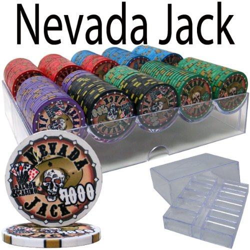 Brybelly Holdings PCS-2501A Pre-Packaged - 200 Ct Nevada Jack 10 G Chip Set Acrylic Tray from Brybelly