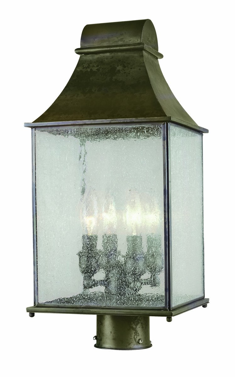 World Imports 61317-06 Revere Collection Outdoor 4-Light Post Lantern, Flemish