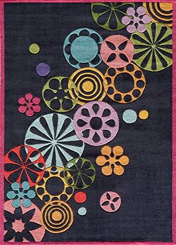 Momeni Lil Mo Hipster LMT-8 Area Rug - Black (5' X 7') (Mo Hipster Lil)