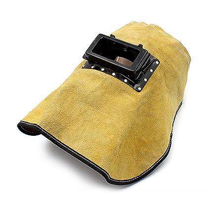 VANKER para soldar cómodo capucha casco para salpicaduras de soldadura y resistente al calor de piel