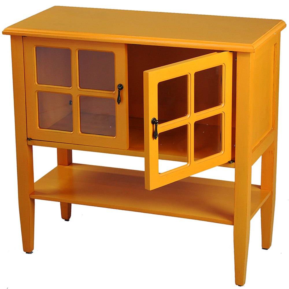 Amazon.com: Heather Ann Creations 2-Door Console Cabinet with 4-Pane ...