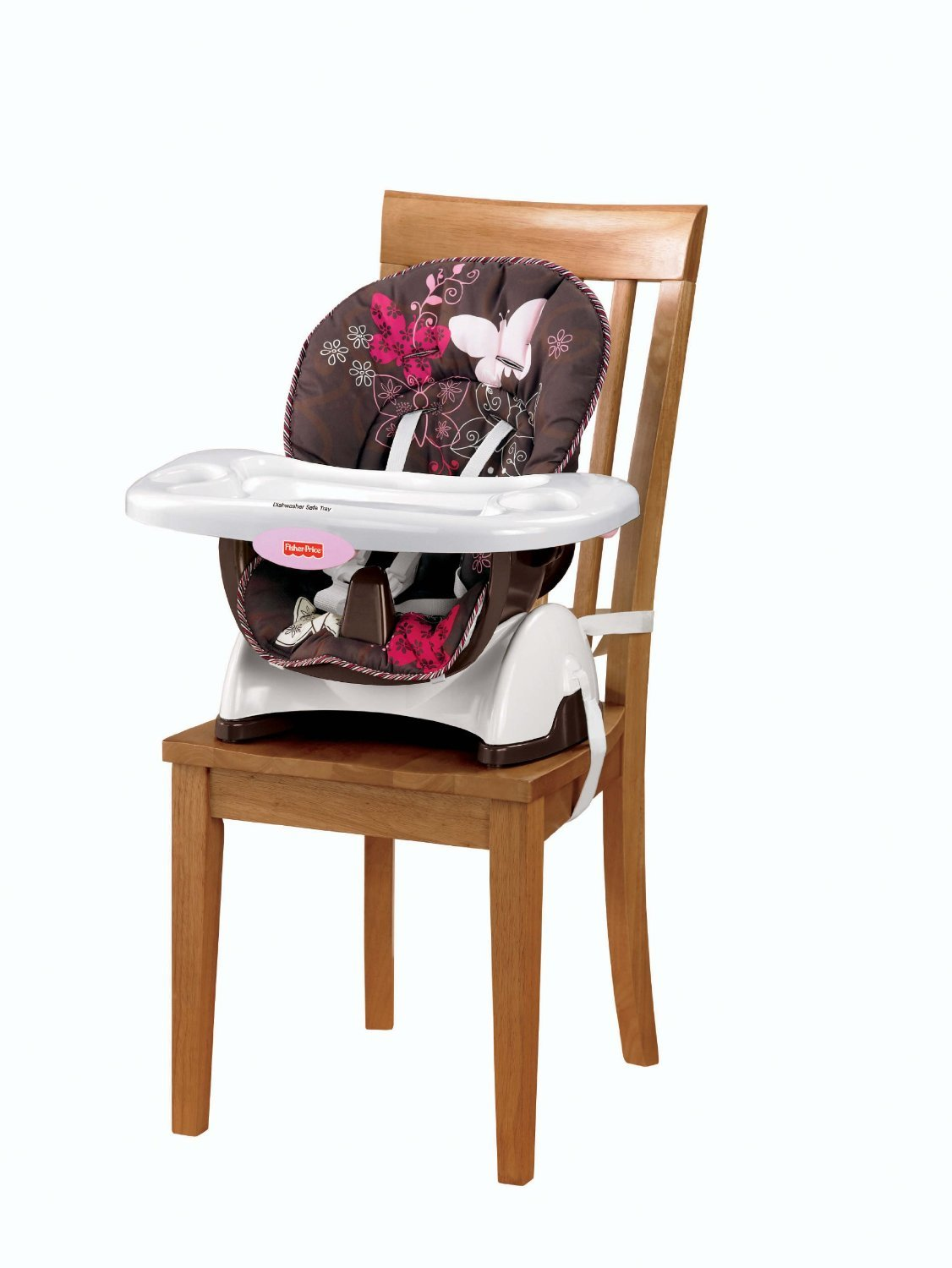 amazon com fisher price space saver high chair mocha butterfly