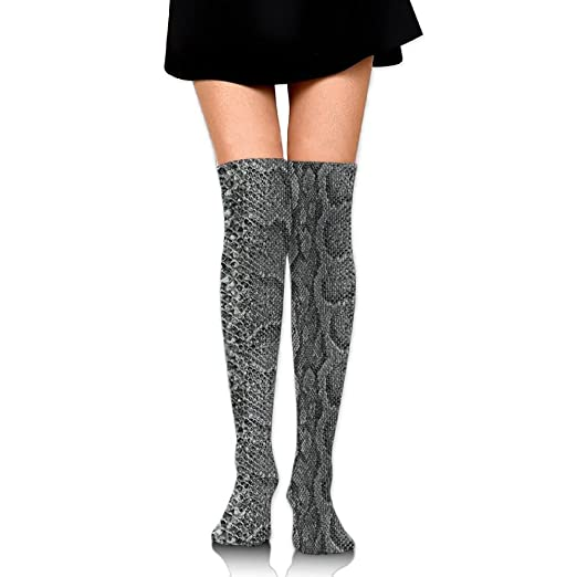 a2feb41261a Funny Snakeskin Animal Thigh High Socks Softball Knee High Over The Knee  Socks For Women