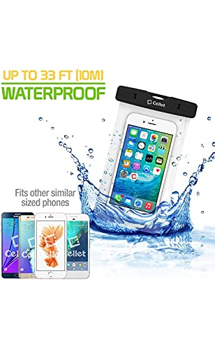 Cell-Stuff IPX8 Black Waterproof Case with 2 Snap Lock System Compatible with Tmobile REVVL 4