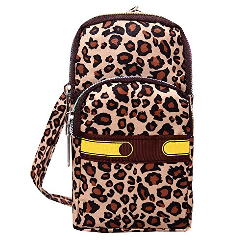 Outdoor Waterproof Tail Purse Wristlet Cckuu Bag Multifunctional Layers 3 Leopard Print Phone Phoenix Pouch qP4Pzx5R