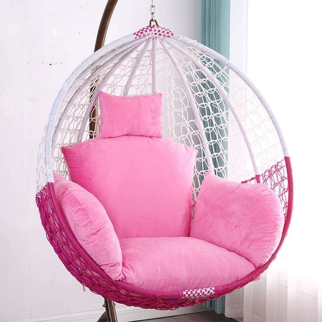 GOPG Hanging Egg Chair Cuscino Accogliente Morbido Poltrona Pensile Altalena Cuscino per Sedia Amaca Cuscini Schienale Cuscini di Seduta Adatto a al Coperto Esterno Giardino Terrazza-A