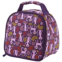 Fit & Fresh Gabby Insulated Lunch Bag, Paisley Cat
