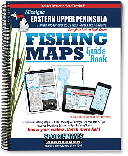 Eastern Upper Peninsula Michigan Fishing Map Guide (Sportsman's Connection)