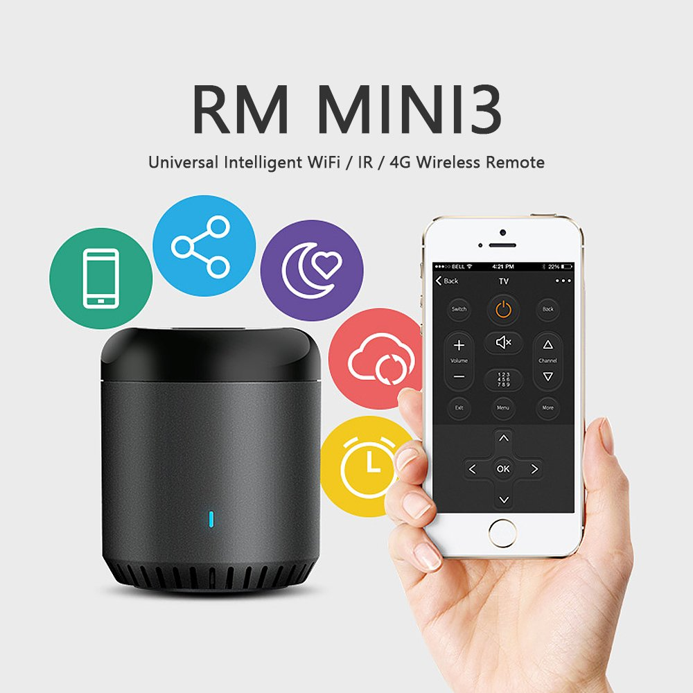 Broadlink New Rm Mini3 Ir Control Hub Smart Home Wi Fi Klimaire Mini Split Wiring Diagram Enabled Infrared Universal Remote One For All Tv Pvr Vdo Dvd Cd Aud