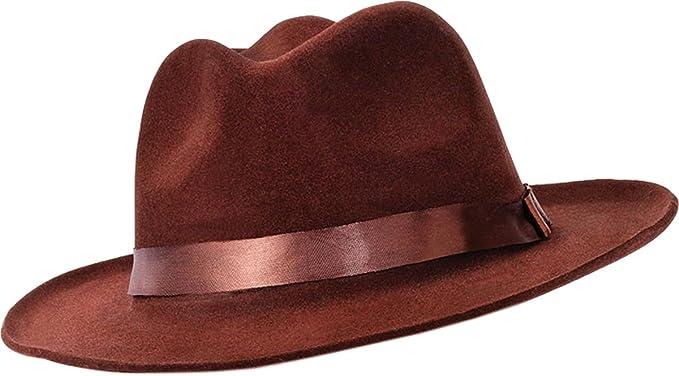 Fedora Brown Velvet  Amazon.co.uk  Clothing 638b0971f74