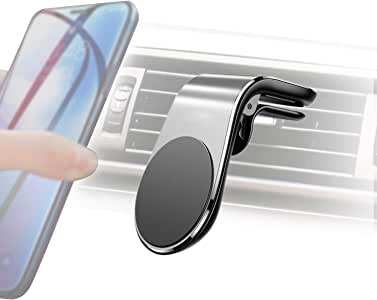 Car Phone Holder, Universal Magnetic Air Vent Mount Kit Silver for All Smartphones,iPhone Xs/XR/XS MAX/X 8 Plus 7 6, Samsung Galaxy, Huawei and More Smartphones GPS