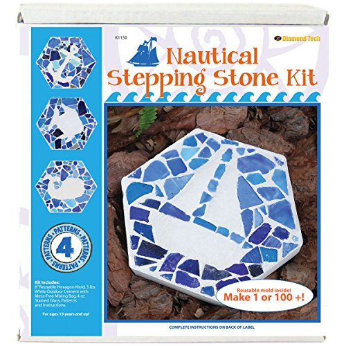 Diamond Tech Crafts K1150 Mosaic Stepping Stone Kit-Nautical