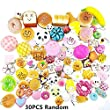 Random 30pcs Jumbo Mini Soft Squishy Cake/Panda/Bread/Buns Phone Straps