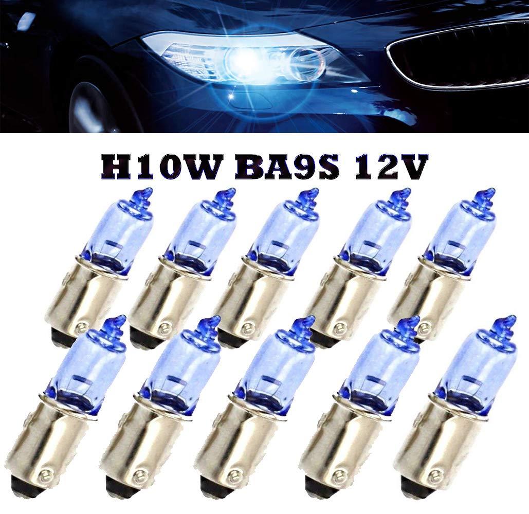 2x H10W Blau Xenon Effekt  Halogen Lampen 12V BA9S BMW 5er Touring E39 E61