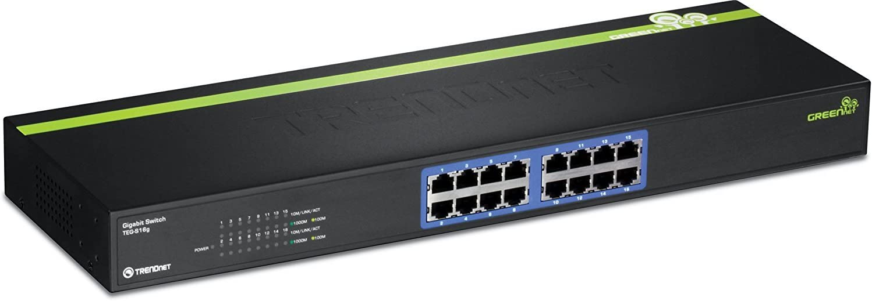 TRENDnet TE-S16g 16-Port Gigabit GREENnet Switch 8K MAC Address Table