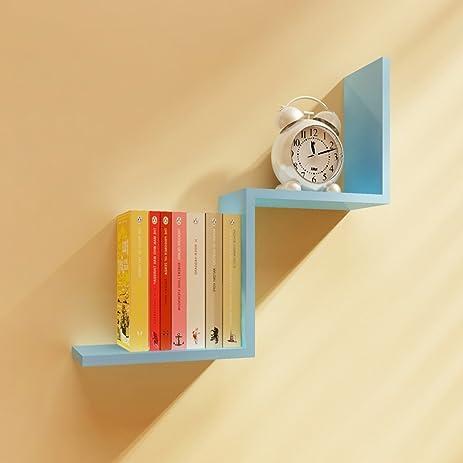 Amazon.com: Wall Shelf Simple Modern Paint Wall Rack Living Room ...