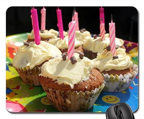 Amazon.com: Almohadillas para ratón, velas para cupcakes ...