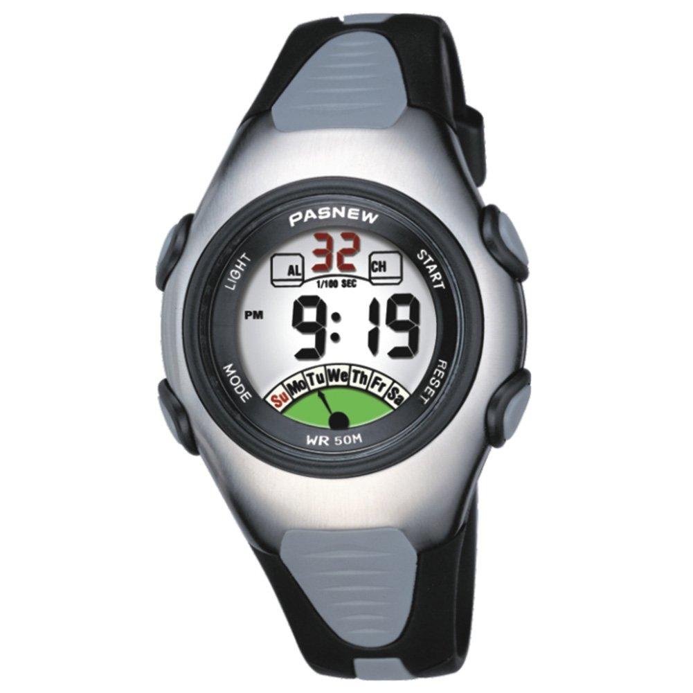 Etbotu Unisex Children Sports Waterproof PU Strap ABS Case NowTime Chronograph Digital Watch by ETbotu