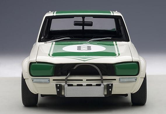 AUTOart 87177 - Nissan - Skyline GT-R - KPGC10 Japan GP 1971 - Escala 1/18 - Blanco/Verde: Amazon.es: Juguetes y juegos