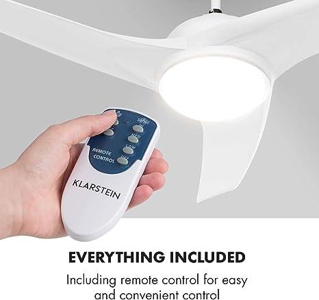 Klarstein Figo - Ventilador de techo: Amazon.es: Iluminación