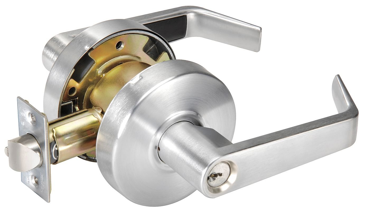 Grade 1 Angled Entry Door Lever Lockset