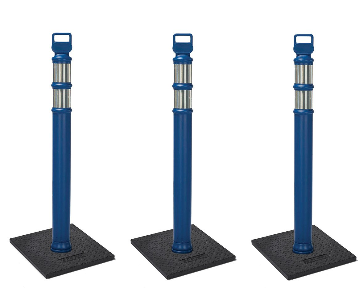 Cortina #03-747BRBC-3-3 PACK 45'' Blue Delineator Post Kit