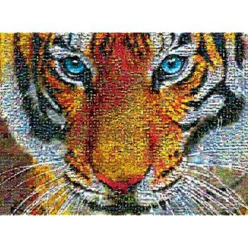 Amazon Com Buffalo Games Photomosaic Tiger 1000 Piece
