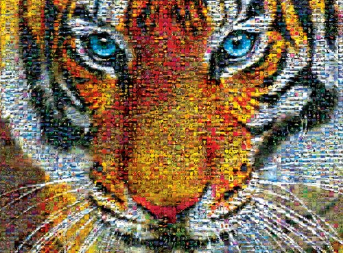 (Buffalo Games Photomosaic: Tiger - 1000 Piece Jigsaw Puzzle by Buffalo Games)