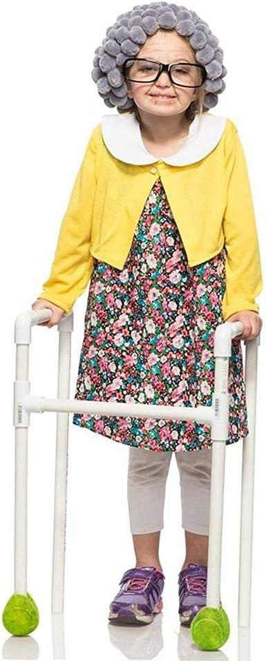 Amazon.com: Disfraz de abuela para niñas, 4T ...