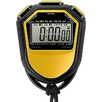 Tomshin Cronômetro à prova d'água cronômetro digital LCD portátil cronógrafo contador esportivo com alça para…