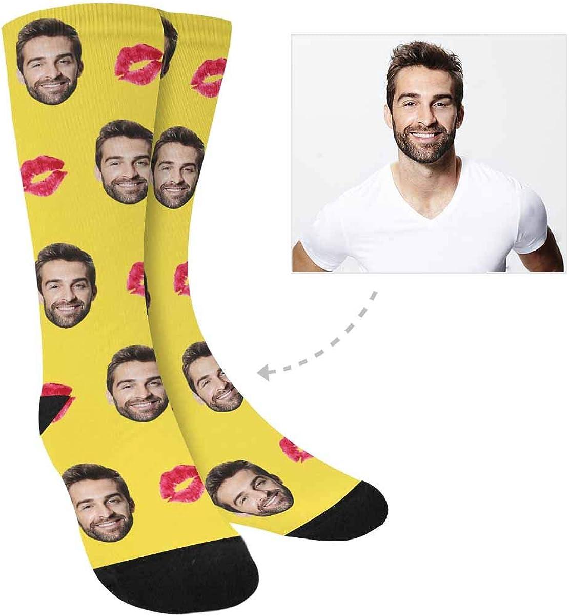 Women  Men/'s Personalized Dog Socks Paws and Bones Sweater Socks Dog Gift Lover