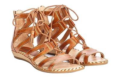 0c13e45fa3c Pikolinos Womens Alcudia Gladiator Sandal Brandy Size 37