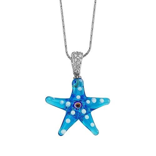 Amazon.com: Creo plata vidrio estrella de mar, Base de plata ...