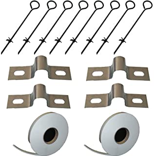 8 x Ground Anchor 8mm Thick Steel Ground Anchor Kit Polytunnel Poly Tunnel