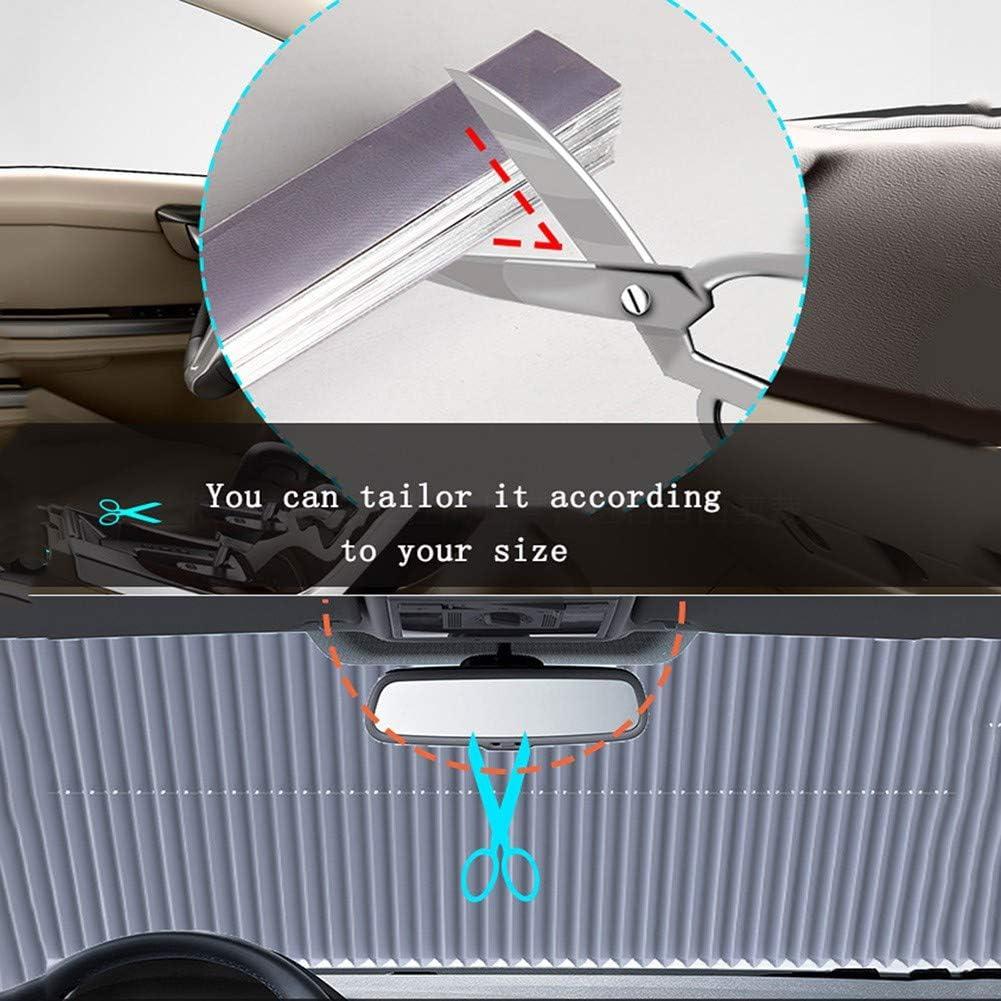 gro/ße Sonnenblendenschutzbl/öcke 99/% UV-Strahlen Auto-Sonnenschutz f/ür Heckscheibe verschiedener Modelle mit Saugn/äpfen Baizhenshangmao Einziehbarer Windschutzscheiben-Sonnenschutz f/ür Autos