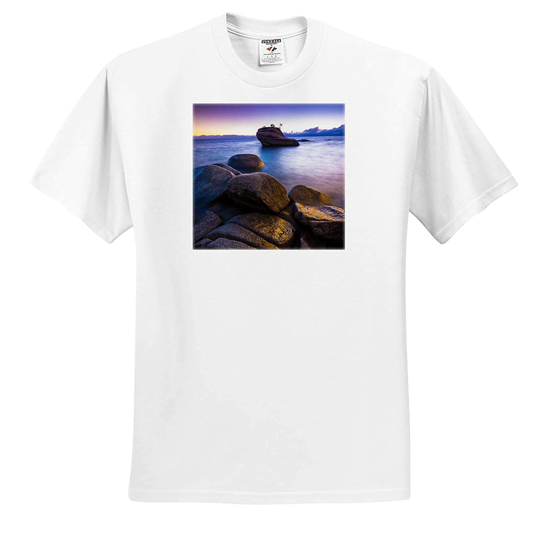 ts/_314696 3dRose Danita Delimont Bonsai Rock at Sunset Nevada Adult T-Shirt XL Lake Tahoe USA Nevada