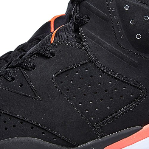 Nike Mens Air Jordan 6 Retro Infrared Black/Infrared 23 Suede Basketball Shoes Size 10 J2NHJtS