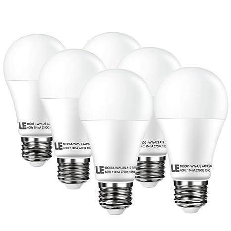 Le 12 W regulable A19 E26 bombillas LED, 75 W incandescente bombillas equivalentes, 1050lm