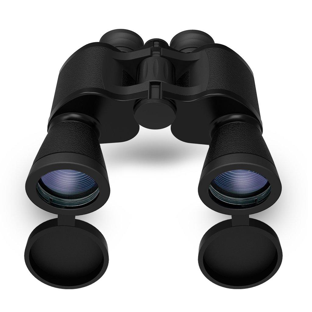 高倍率双眼鏡、Bial 10 x 50 HD Professionalスーパーhigh-powered Surveillanceコンパクト折りたたみ屋根プリズム望遠鏡クリアビジョンfor Bird Watching、ハンティング、旅行など(ブラック) B01N9H5GDB
