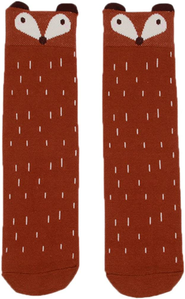 XL, coffee HENGSONG Warm Children Kids Soft Cotton Socks Fox Pattern Hosiery for Age 1-4 Years