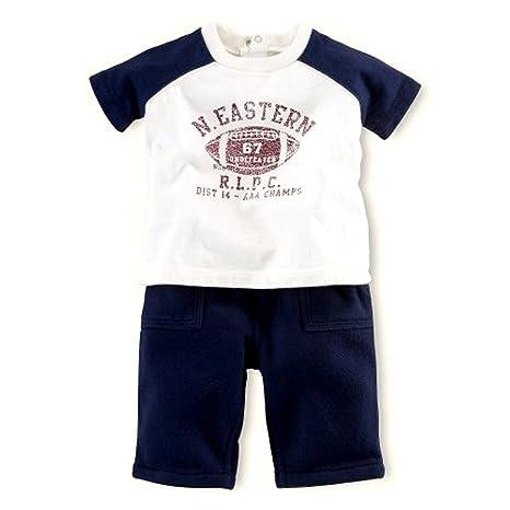 9dc76e048 Ralph Lauren Baby Boys Polo Graphic Short Sleeves Shirt amp  Fleece Pants  Set (6 MOS